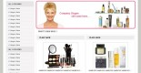 Free beauty shop web template