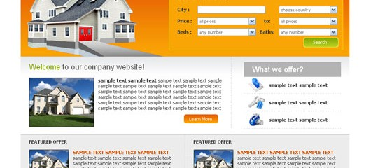 Another free real estate web template