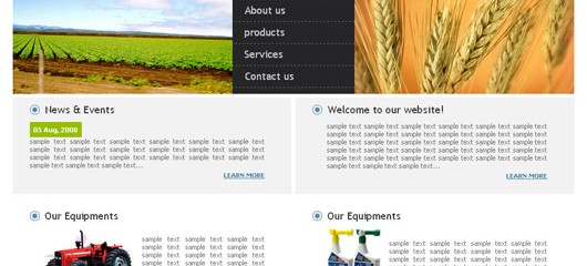 Free agriculture web template