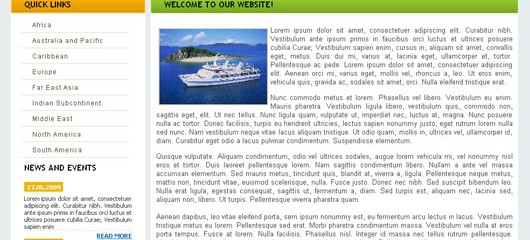 Free Cruise Travel css web template