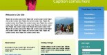 Free travel tour PSD web template