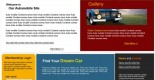 free auto cars PSD web template