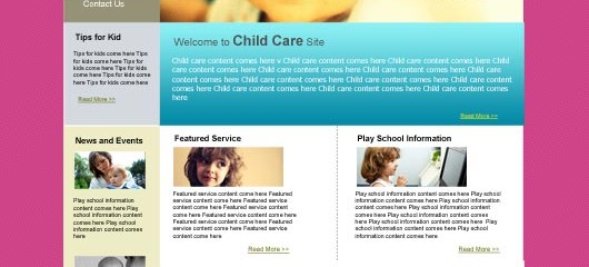 Free baby education PSD web template