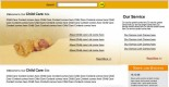 Free baby care psd web template