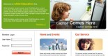 free education PSD web template