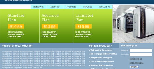 Free web hosting html web template
