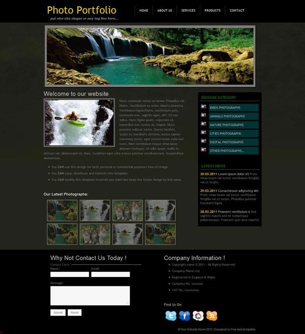 Free Photography Portfolio web template &#8211; Photo Portfolio