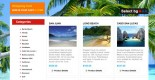 Free beach tour travel planner PSD web template
