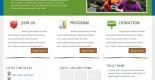free child charity website template