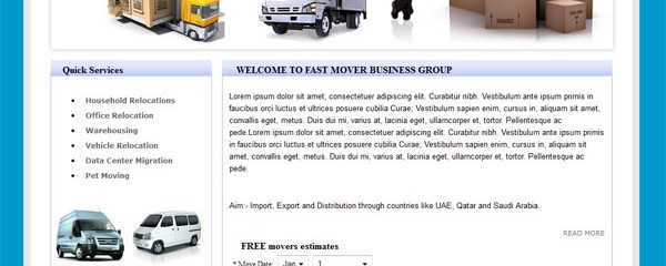 Free packers and movers web template