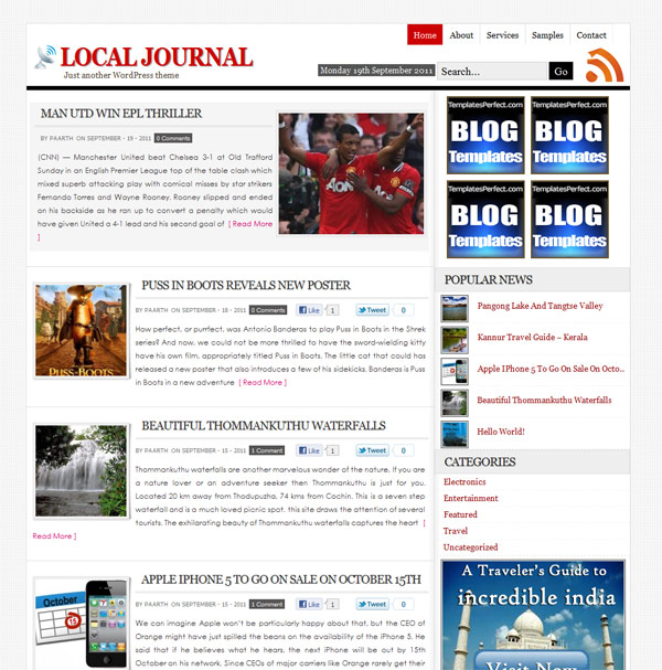 Local Journal free wordpress theme