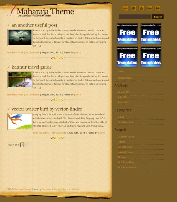 Maharaja wordpress theme