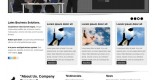 Free business web template - Black Cat