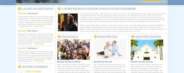 Free Church website template
