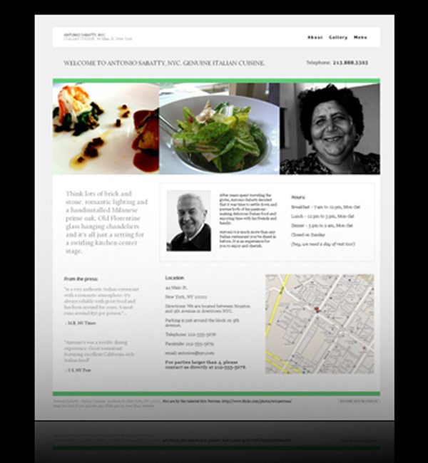 Create free restaurant or food website