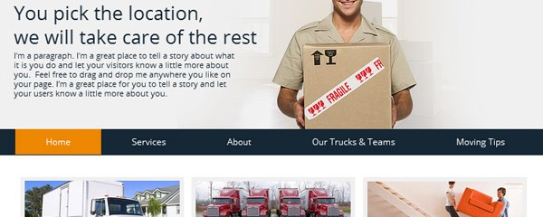 Make movers and packers website for free