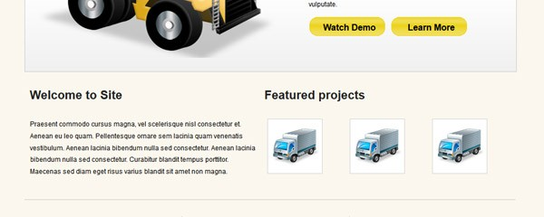 Free Packers and Movers website template