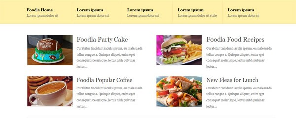 Free Food and Restaurant CSS Template: Foodla