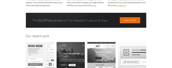 Free minimalistic Business HTML5 template