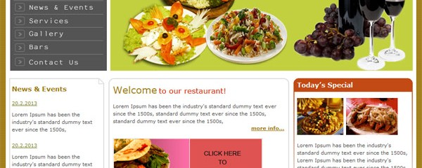 Classic restaurant &#8211; free html template
