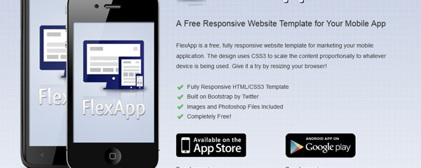 Free Responsive Website Template for Your Mobile App