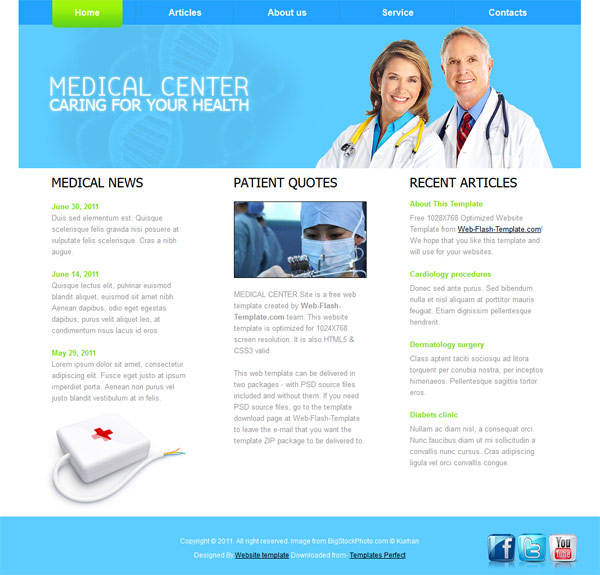 medical-center HTML5 template