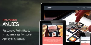 Responsive Retina Ready HTML Template &#8211; Anubis
