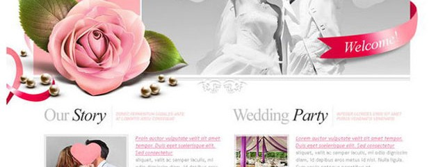 Free Wedding PSD template