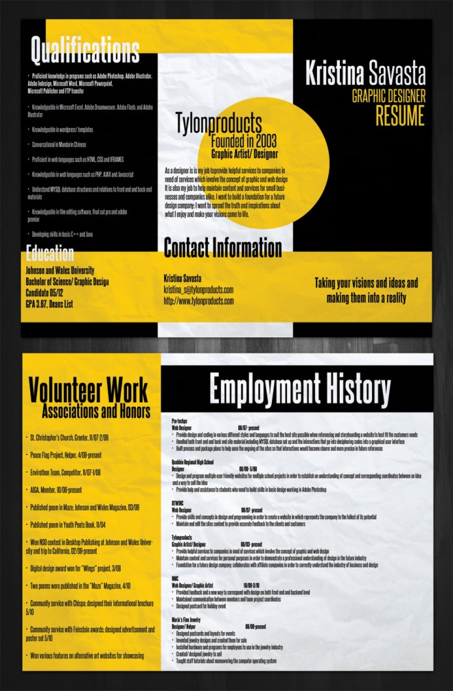 15 brilliant and colorful resume designs that will make