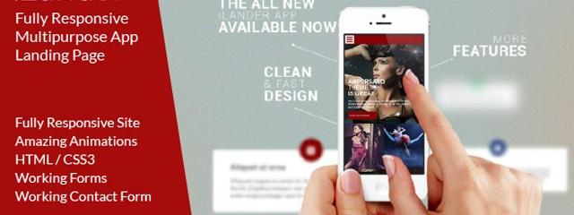 Responsive Multipurpose App Landing Page